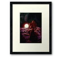 Luci rosse Framed Print