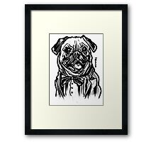 Pug Life = Thug Life Framed Print