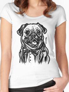 Pug Life = Thug Life Women's Fitted Scoop T-Shirt