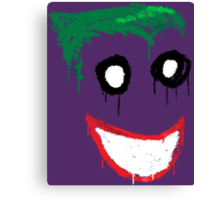 Joker Graffiti Canvas Print