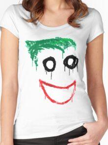 Joker Graffiti Women's Fitted Scoop T-Shirt