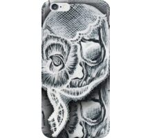 White Skull Collage iPhone Case/Skin