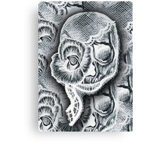 White Skull Collage Canvas Print