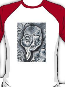 White Skull Collage T-Shirt