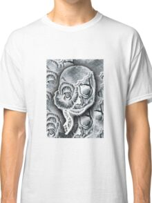White Skull Collage Classic T-Shirt