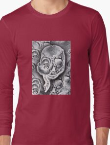 White Skull Collage Long Sleeve T-Shirt