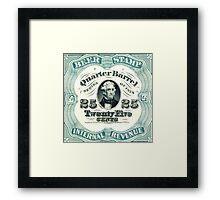 beer stamp Framed Print