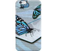 All About the Monarch in Blue iPhone Case/Skin