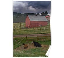 Thunderstorms On The Farm Poster
