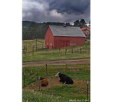Thunderstorms On The Farm Photographic Print