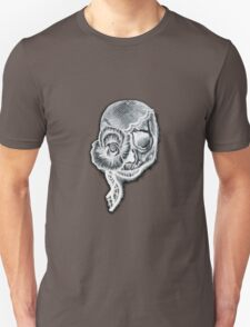 White Inverted Skull T-Shirt