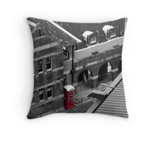 The Phone Box Throw Pillow