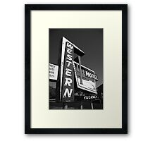Route 66 - Western Motel Framed Print