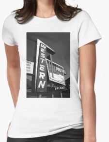Route 66 - Western Motel Womens Fitted T-Shirt