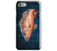 Mangrove Jack on black & blue iPhone Case/Skin