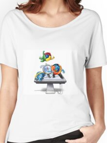 Browser Wars Poster Women's Relaxed Fit T-Shirt