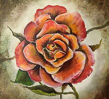 Rose in Full Bloom by Gretchen Smith