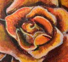 Rose in Full Bloom Sticker