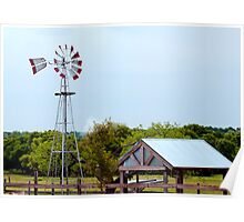 Texas Farm Poster