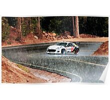 Subaru BRZ Ascending Pikes Peak in the Rain Poster