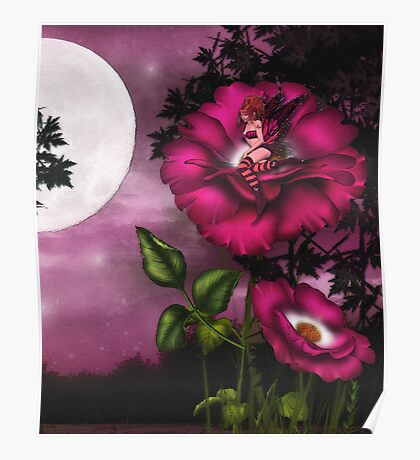 BED TIME IN THE ROSE GARDEN Poster