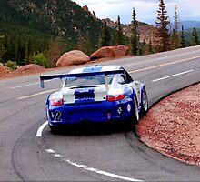 Porsche 911 GT3 Ascending Pikes Peak by BecauseRaceArt