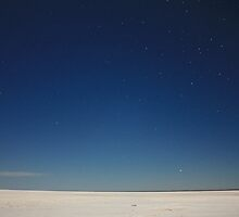 Starlit Sky over Lake Eyre by Tim Coleman