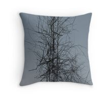 powerline and branchtangle  Throw Pillow