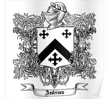 Anderson Family Crest 1 Poster