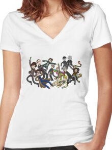 Adventure Time For Doctor Who Women's Fitted V-Neck T-Shirt