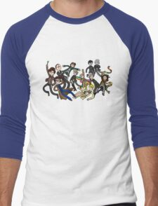 Adventure Time For Doctor Who Men's Baseball ¾ T-Shirt