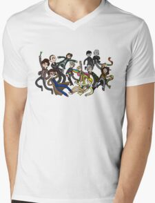 Adventure Time For Doctor Who Mens V-Neck T-Shirt