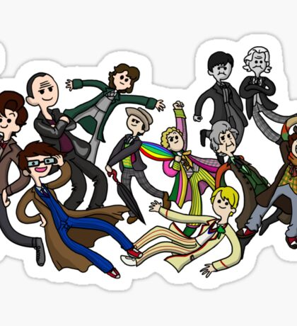 Adventure Time For Doctor Who Sticker
