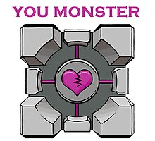 You Monster (white) Photographic Print