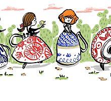 Teacup Ladies  by carla zamora