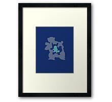 Blastoise Evolution Framed Print