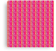 Hearts and Stripes Canvas Print