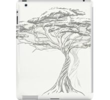 Acacia Shadow , black and white beautiful zen tree  iPad Case/Skin