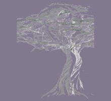 Acacia Shadow , black and white beautiful zen tree  Kids Tee