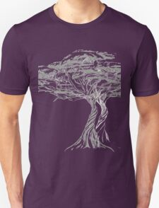 Acacia Shadow , black and white beautiful zen tree  Unisex T-Shirt