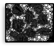 Stochastic - Black Canvas Print