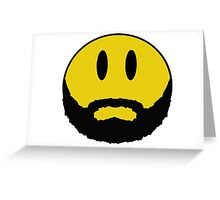 Emoticon with beard. Greeting Card
