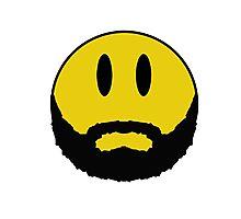 Emoticon with beard. Photographic Print