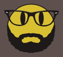 Hipster emoticon with beard and glasses. Kids Clothes