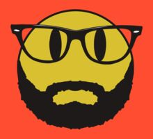 Hipster emoticon with beard and glasses. by 2monthsoff