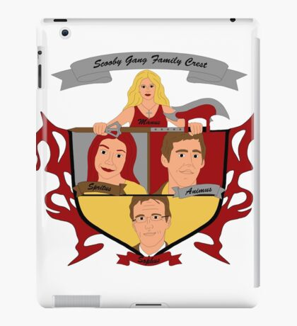 Buffy the Vampire Slayer Scooby Gang Family Crest iPad Case/Skin
