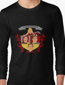 Buffy the Vampire Slayer Scooby Gang Family Crest Long Sleeve T-Shirt