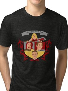 Buffy the Vampire Slayer Scooby Gang Family Crest Tri-blend T-Shirt