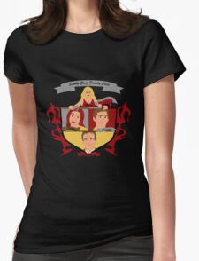 Buffy the Vampire Slayer Scooby Gang Family Crest Womens Fitted T-Shirt