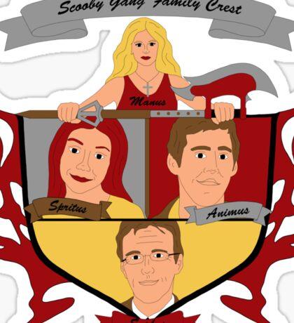 Buffy the Vampire Slayer Scooby Gang Family Crest Sticker